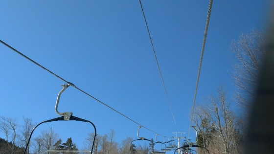 This picture was taken at Sunday River.