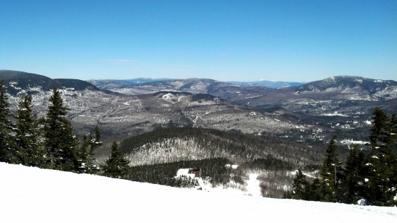 The View from the peek of a mountain at Sunday River