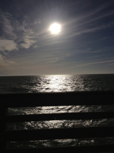 This was taken on my iphone4s. I was in Florida on a pier as the sun was setting. I did not put any affects in it.